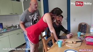 MyDdirtyHobby - Cheating redhead teen fucks elder guy in front of their way man
