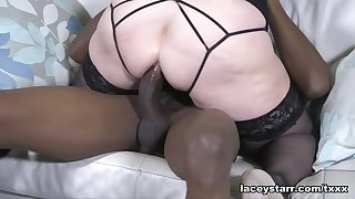 Lacey Starr Takes It Take The Ass - GrannyLovesBlack