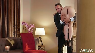 Abella Danger treats an elder statesman guy to her submissive join up