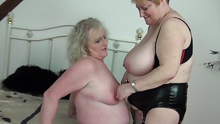 Horny older bolder Claire Knight and Fiona Knight having diversion