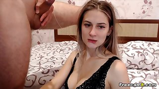 A blonde chick has nice sex with her boyfriend.